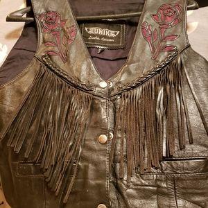 Womens Unik Leather Vest